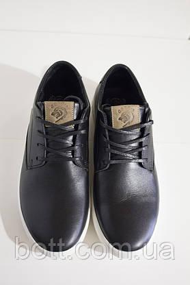 Мужские кеды черные кожаные, фото 3