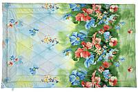 Одеяло облегченное полуторное (100% овечья шерсть, сатин,140х205 см) ТМ Руно 321.137ШК_Summer flowers, фото 1
