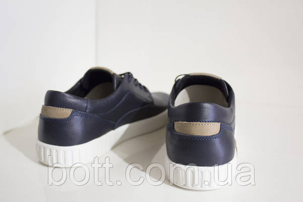 Кеды синие кожаные перфорированные, фото 2