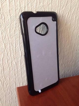 Чехол для 2D сублимации пластиковый на HTC One M7 черный, фото 2