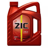 Полусинтетическое масло моторное ZIC X3000 15W-40 DIESEL 4 л.