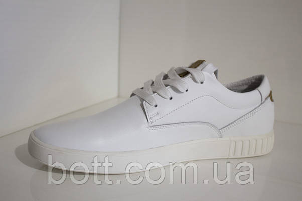 Кеды мужские белые кожаные, фото 2