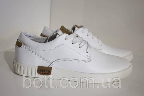 Кеды кожаные белые, фото 3