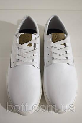 Кеды мужские белые кожаные, фото 3