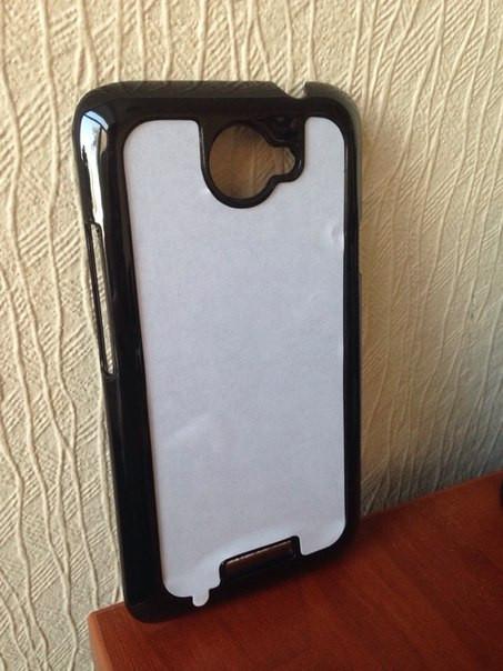 Чехол для 2D сублимации пластиковый на HTC ONE X черный