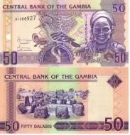Gambia Гамбия - 50 Dalasis 2001 UNC