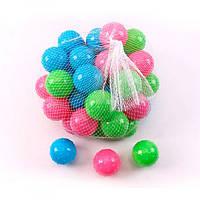 Шарики M 5487  6см, для сухого бассейна, 50шт в кульке, рельефные, в сетке, 23-23-23см