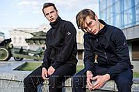 Soft Shell Мужская горнолыжная куртка на флисе влагоустойчевая MAW man&wolf синие navi tactic 5.11+подарок