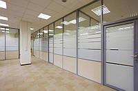 Офисная перегородка стеклянная