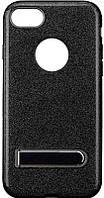 Чехол-накладка TOTO TPU Case Rose series with Holder iPhone 7 Black