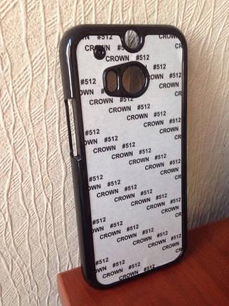 Чехол для 2D сублимации пластиковый на HTC One M8 черный, фото 2