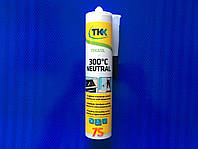 Герметик силиконовый, высокотемпературный TKK, 300 градусов, черный, 300 мл