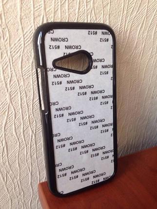 Чехол для 2D сублимации пластиковый на HTC One M8 mini черный, фото 2