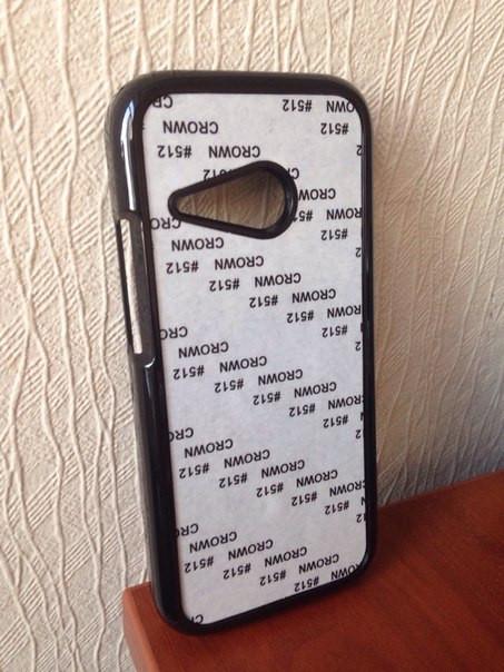 Чехол для 2D сублимации пластиковый на HTC One M8 mini черный