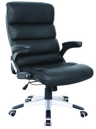 Кресло Холтон к/з чёрный высокая боковая к/з белый., фото 2