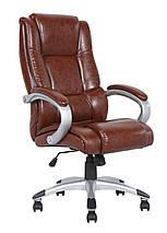 Кресло Холтон к/з чёрный высокая боковая к/з белый., фото 3