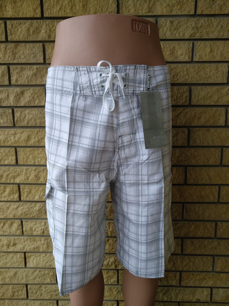 Шорты мужские брендовые большого размера на липучке со шнуровкой реплика BILLABONG