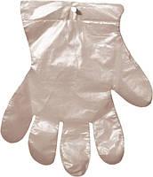 Перчатки полиэтиленовые на планшете