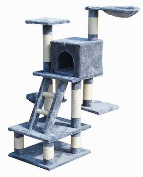 Когтеточка, домик, дряпка для кошек  CAT-TREE C-07, серая, фото 2