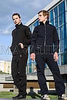 Soft Shell мужской горнолыжный костюм на флисе влагоустойчевый MAW man&wolf синий navi tactic 5.11