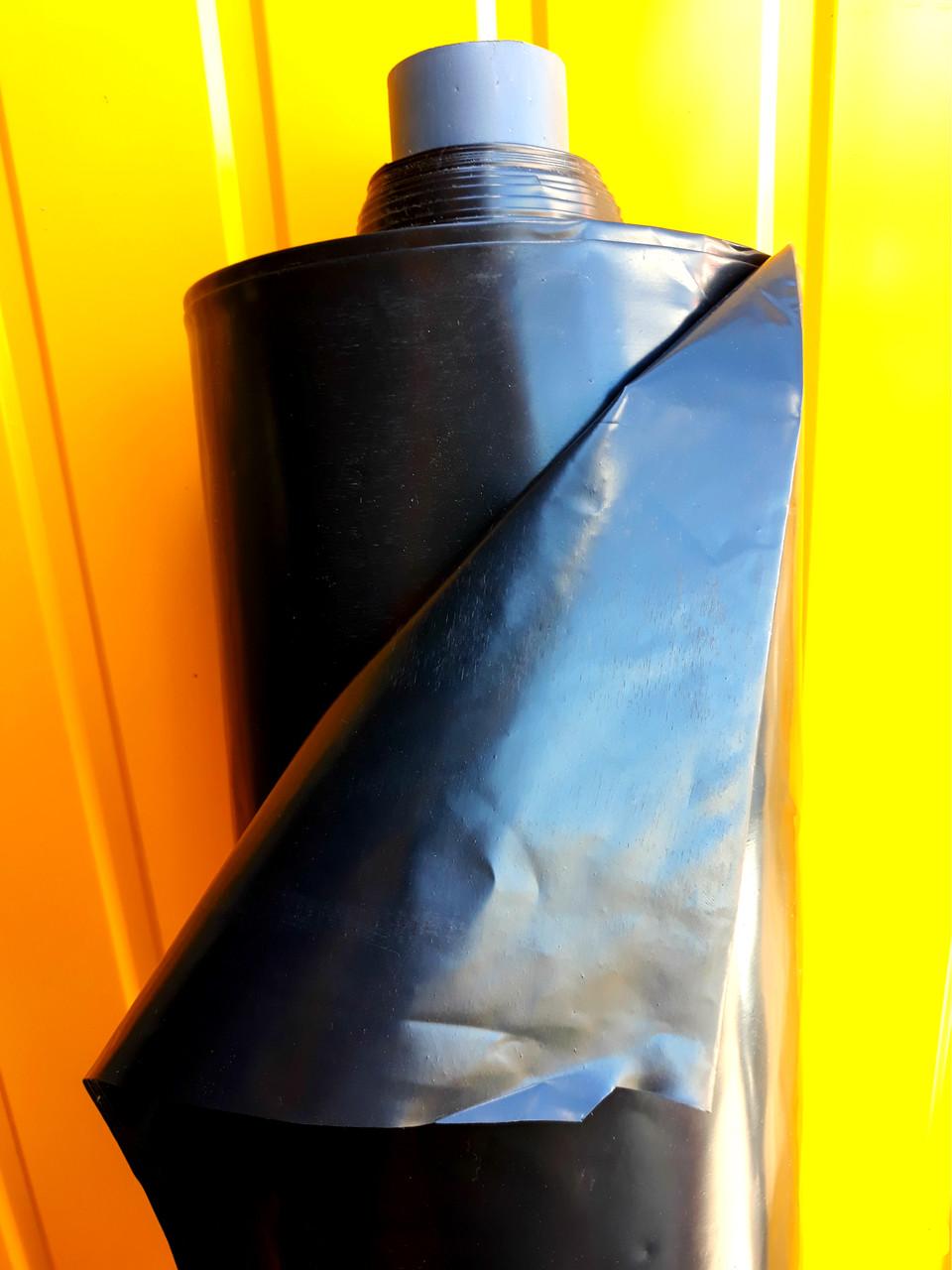 """Пленка черная, 60мкм 6м/50м """"Союз Планета Пластик"""" полиэтиленовая (для мульчирования, для хризантем)"""
