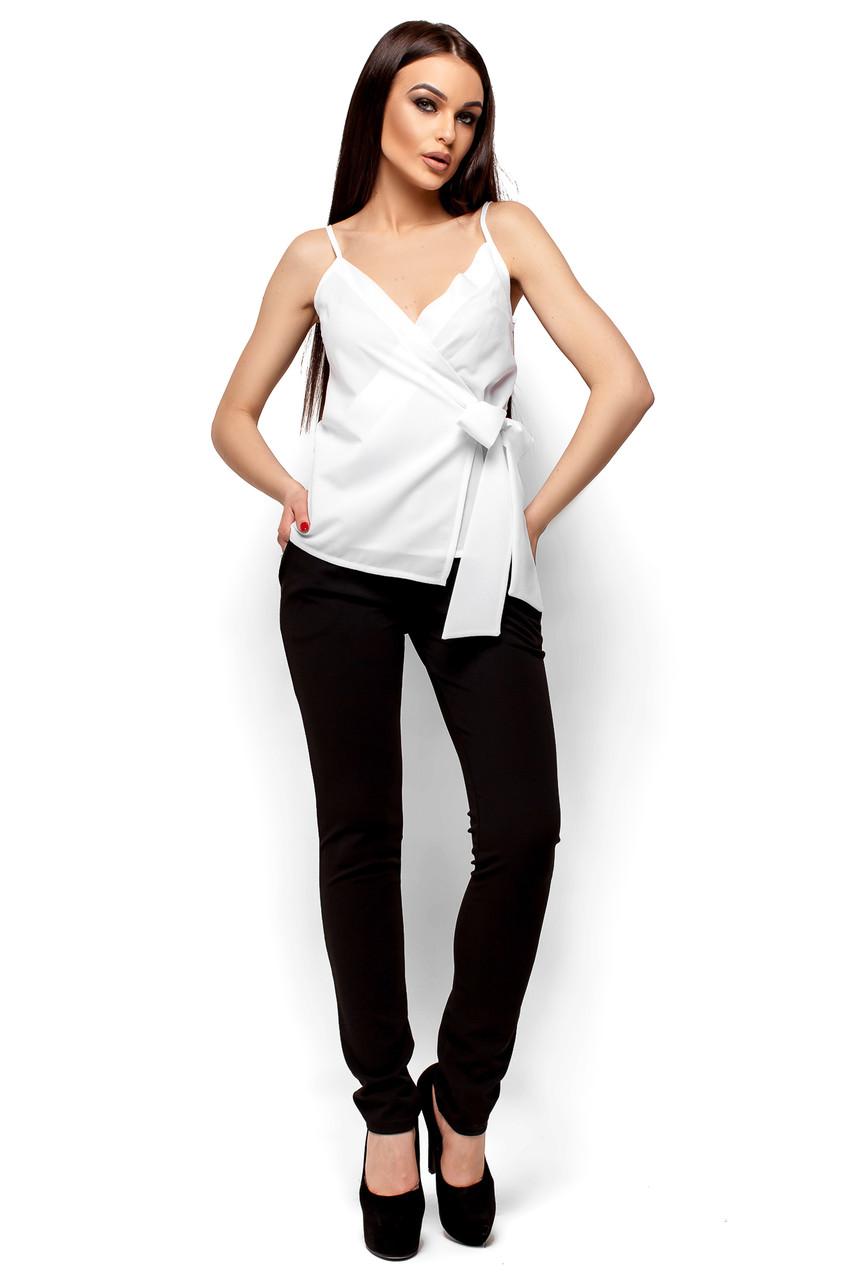 Элегантная блуза с с глубоким декольте Karree белая