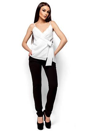 Элегантная блуза с с глубоким декольте Karree белая, фото 2