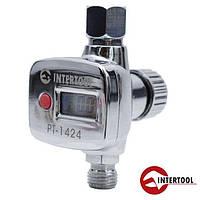 Регулятор давления с цифровым манометром для пистолетов покрасочных Intertool PT-1424