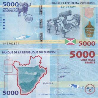 Бурунди/Burundi 5000 Francs 2015