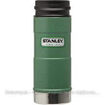 Термокружка зеленая 0.35L CLASSIC ONE HAND Stanley (Стенли) (10-01569-005), фото 2