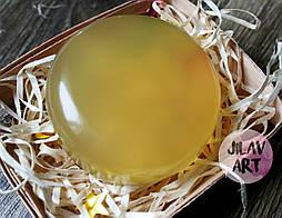 """Мыло ручной работы на оливковой основе """"Календула-алоэ"""" с комплексом витаминов."""