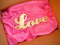 Надпись LOVE на свадьбу, годовщину, для фотосессии, декорации, дерево