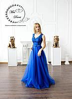 Вечернее платье выпускное платье синее (электрик), фото 1