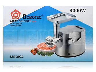 Мясорубка электрическая металл. корпус Domotec 3000Вт MS-2021