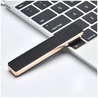 USB зажигалка «Компакт» тонированное серебро в подарочной коробочке