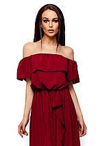 Платье в пол с разрезом спереди и воланом Karree Астарта марсала, фото 3