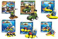 Конструктор 6 видов интересных наборов для создания разных машинок для детей от 3 лет