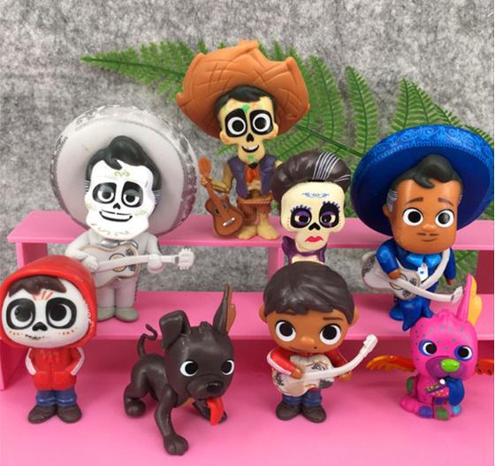 Набор фигурок Тайна Коко 8 шт. до 9 см. с мультфильма Disney