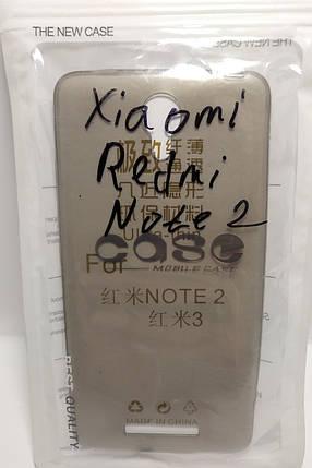 Силіконовий чохол Case Xiaomi Redmi Note 2 затемнений, фото 2
