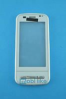 Сенсорный экран Nokia C6-00 белый с рамкой