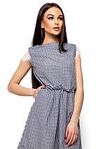 Легкое летнее платье в мелкую черную клетку, фото 2