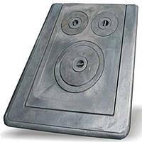 "Плита чугунная ""Водолей-ЯП"" трехконфорочная 385*540 мм (вес - 10 кг)без рамки"