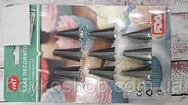 Насадки кондитерские 9 шт металл