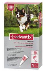 АДВАНТИКС для собак против блох и клещей вес собаки 10-25кг