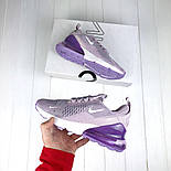 Женские кроссовки Nike Air Max 270 Violet. Топ качество! Живое фото (Реплика ААА+), фото 3