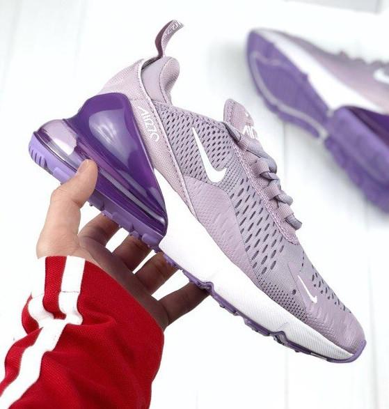 Женские кроссовки Nike Air Max 270 Violet. Топ качество! Живое фото (Реплика ААА+)