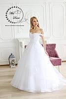 Платье свадебное белое пышное с юбкой на регилине , фото 1