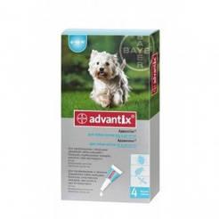 АДВАНТИКС для собаки против блох и клещей вес собаки 4-10кг