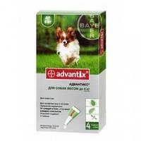 АДВАНТИКС для собак против блох и клещей вес собаки до 4кг