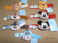 Игрушки-погремушки на ручку плюшевые Disney baby